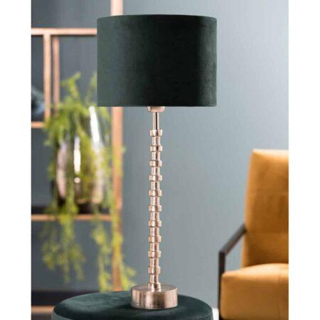 Tischlampe MALINDA, besondere Leuchte in gold und schwarz von Light & Living