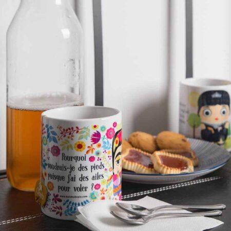 Los Tukis Keramikbecher, schöne Keramikbecher mit deinem Star zum Frühstück von Kalidoskopio aus Madrid
