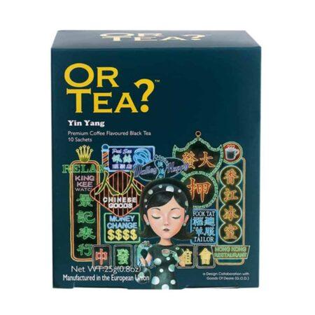OR TEA? Schwarzer Tee mit Kaffeebohnen