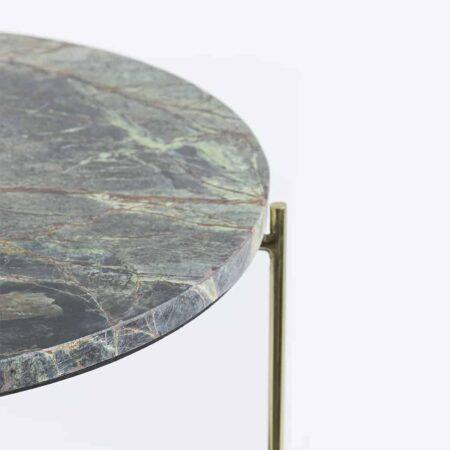 Couchtisch BESUT grün Marmor gold Glas
