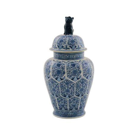 Deckelvase BLUE MING blau weiß Porzellan