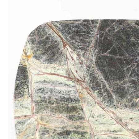 Etagere BESILA grün Marmor gold