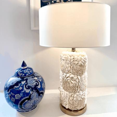 Tischlampe BASE THE MERCER / Muscheln, edle und luxuriöse Tischleuchte von Van Roon Living