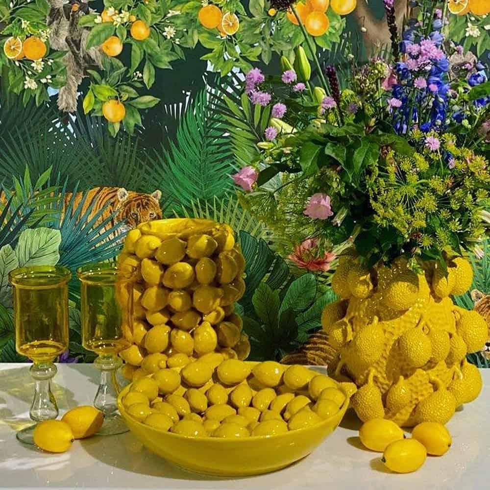 Vase ALL LEMONS gelb Porzellan