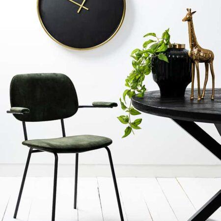 Esszimmerstuhl EMMA dunkelgrün schwarz