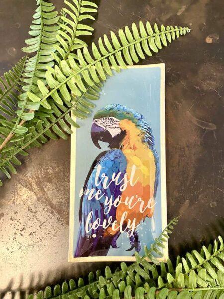 LOVE PLATES Papagei, Glasteller mit buntem Papagei von GiftCompany