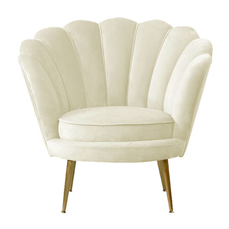 Loungesessel LOTUS cremeweiss