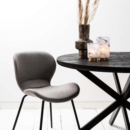 Esszimmerstuhl VIOLET grau-braun-schwarz