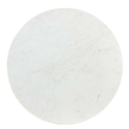 Tisch RICKERD weiß Marmor antik bronze