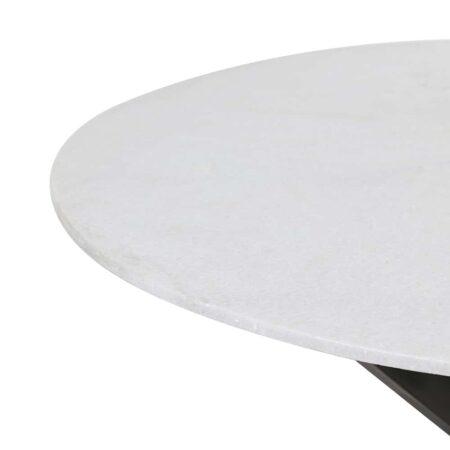 Esstisch TOMOCHI Marmor schwarz weiß