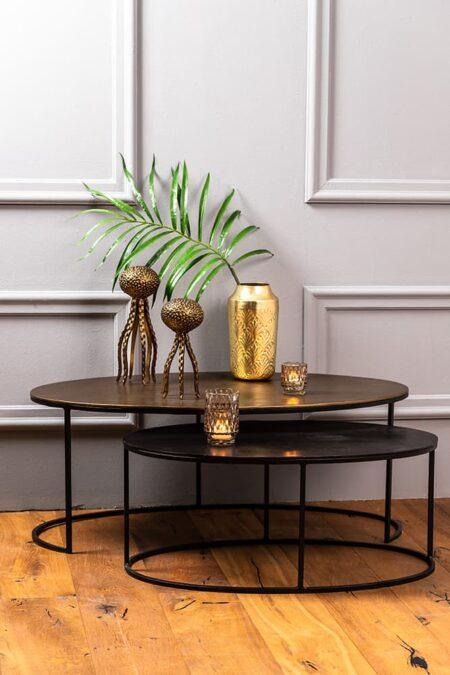 Couchtisch PAXSON von Light & Living in eleganter antik bronze+pun