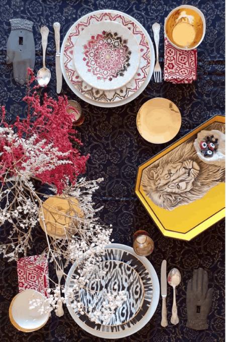 Esstisch Dekoration, Tabletts und Accessoires von Les-Ottomans