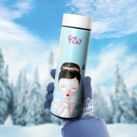 Thermoskanne 'Ginseng Beauty' mit LED-Temperaturanzeige von OrTea?, praktische und schöne Kanne
