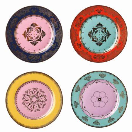 Desserteller GRANDPA bunt-mix, wie aus Alice im Wunderland - extravagantes Geschirr von Pols Potten