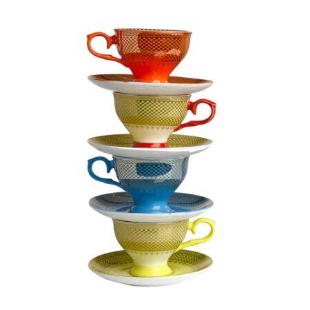 Espressotassen Set Mehrfarbig, extravagantes Porzellan-Set von Pols Potten