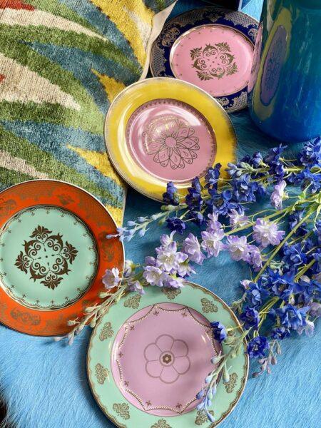 Dessertteller 'GRANDPA' 4er-Set Porzellan, mehrfarbig, wie aus Alice im Wunderland - extravagantes Geschirr von Pols Potten