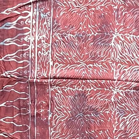 Sarong TUWED in brombeerrot-lila mit Linien in weiß