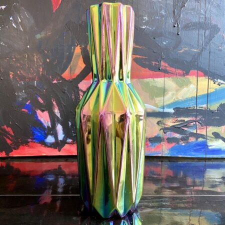 Vase 'OILY FOLDS' , Faltenvase mit schillernder Glasur, 41,5 cm von der Marke Pols Potten