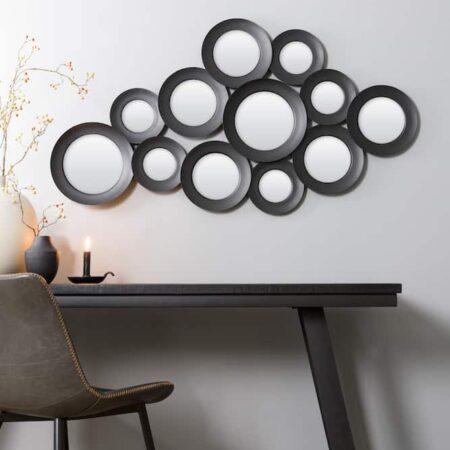 Wandspiegel ISPILU matt-schwarz, Spiegel als Wanddeko von Light & Living