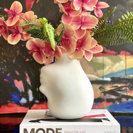 Vase HEAD Porzellan, extravagante Vase von Pols Potten