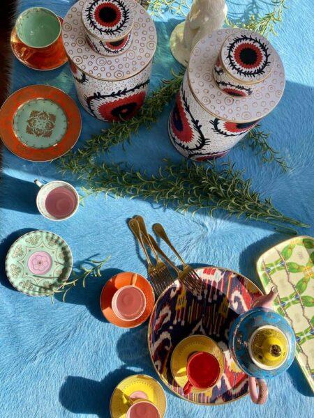 Accessoires und Dekoration, Vasen und Teeservice