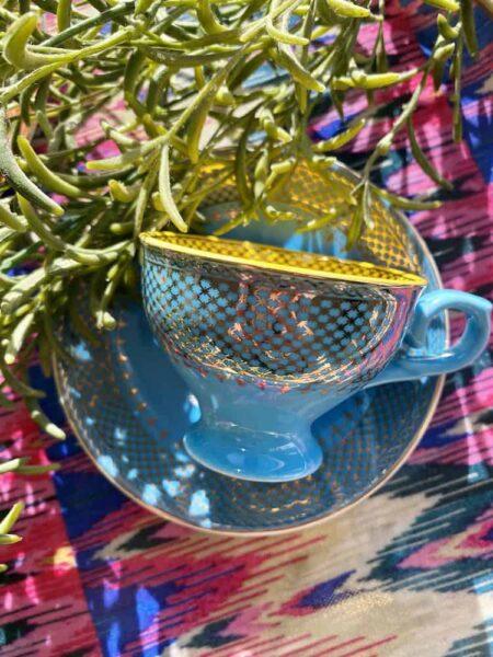 Blaue Espressotasse, 4er-Set von Pols Potten