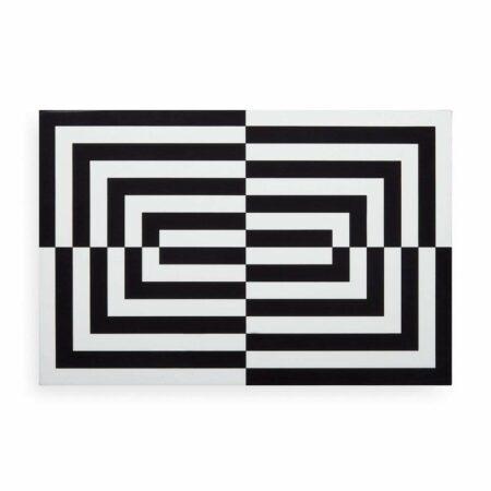 Deko Box OP ART LARGE in schwarz + weiß, Glamouröse und hochglänzende Lackbox im schwarz-weiss Look von Jonathan Adler