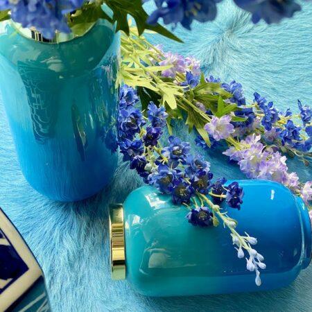 Vase SAIGON lagoon/ azure, traumhaft schöner Farbverlauf in Blautönen von GiftCompany