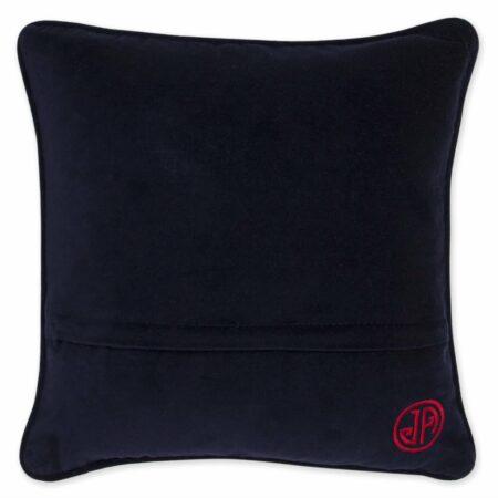 Kissen JET SET PARIS mit Baumwollsamt, Rückseite aus Baumwollsamt