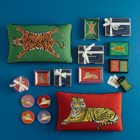 Jonathan Adler Tiger Kollektion, extravagante Accessoires für das Zuhause