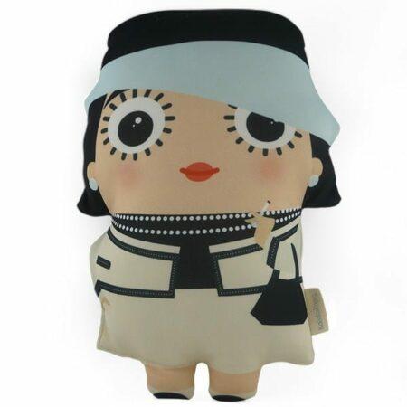 Kissen COCO CHANEL, besonderes Fank-Kissen mit der Illustration auf Vorder-und Rückseite