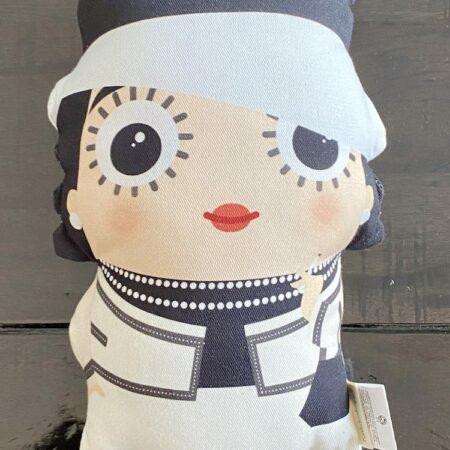 Kissen COCO CHANEL, besonderes Fan-Kissen mit der Illustration auf Vorder-und Rückseite