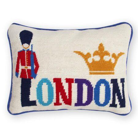 Kissen JET SET LONDON mit Baumwollsamt, in Handarbeit gefertigt... vom Designer Jonathan Adler
