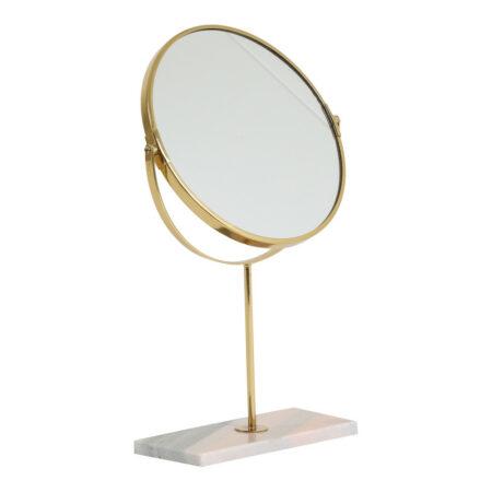 Kosmetikspiegel RIESCO Marmor, Spiegel in rosa-gold von Light & Living