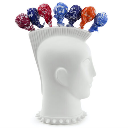 Lollipop Holder MOHAWK, exzentrischer Halter für Dauerlutscher; aus Porzellan - Design by Jonathan Adler