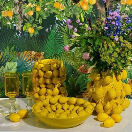 Vasen & Dekoration gelbe Kollektion aus Porzellan von Van Roon Living