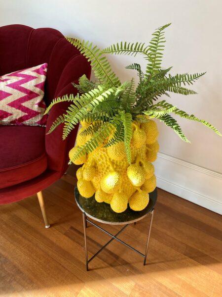 extravagante Vase in Form einer Jackfruit