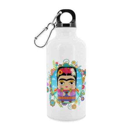 Trinkflasche FRIDA KARLO von KALIDOSKOPIO, coole Trinkflasche aus Aluminium