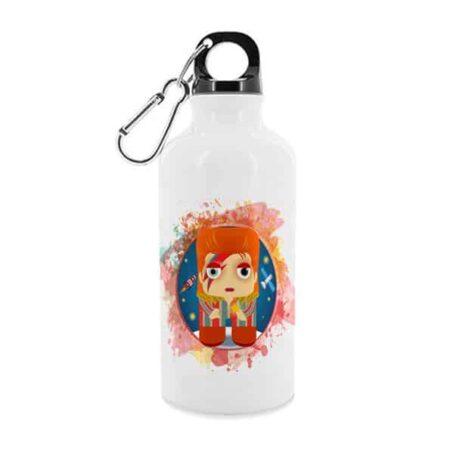 Trinkflasche DAVID BOWIE von KALIDOSKOPIO, diese Trinkflasche ermöglicht genussvolle Heißgetränke im illustrierten Design.