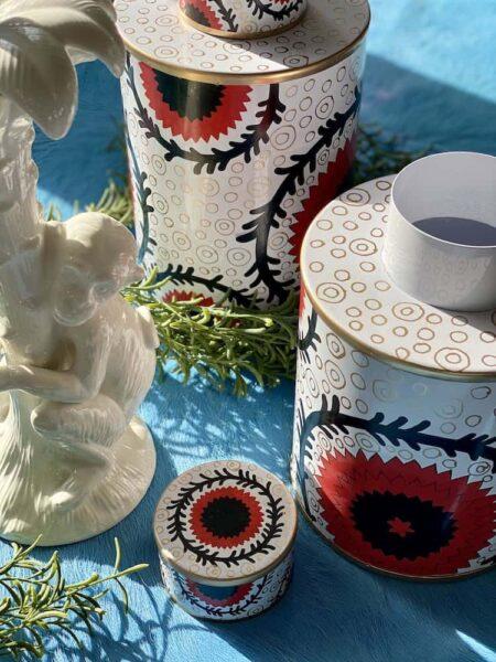 Vase ISTANBUL, Gefäß aus Eisen, handbemalt im 2er-Set von Les Ottomans