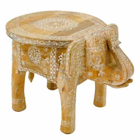 Beistelltisch INDIAN ELEPHANT, mit Spiegelstücken als Verzierung