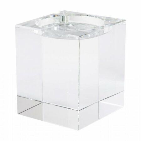 Teelichthalter DIOPTRICS ø16,5 cm, aus reinem Kristallglas von GiftCompany