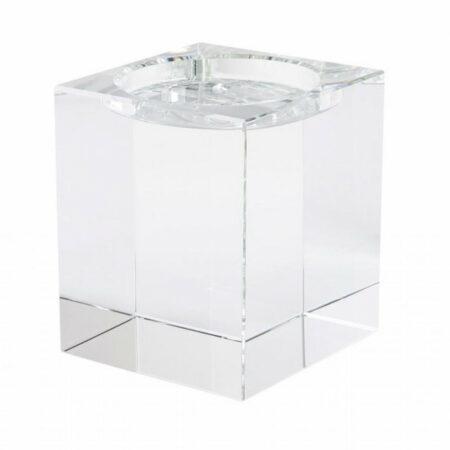 Teelichthalter DIOPTRICS ø14 cm, aus reinem Kristallglas von GiftCompany