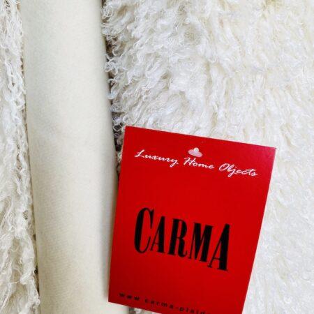 Decke Plaid TIBETLAMM ivory von Carma, Futter mit Kaschmir und Schurwolle. Hochwertiger Webpelz - gönnen Sie sich etwas Luxus!