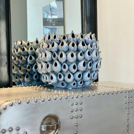 Vase MUSK Van Roon Living, prunkvolles Porzellan Gefäß in blau