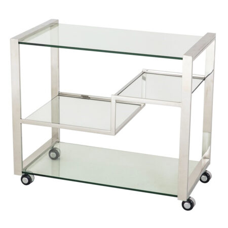 Servierwagen BEAUFORT Glas + Stahl