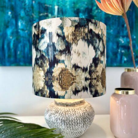Tischlampe MERLE / Sand-Flower 55 cm, Leuchte wie aus einem Strandhaus