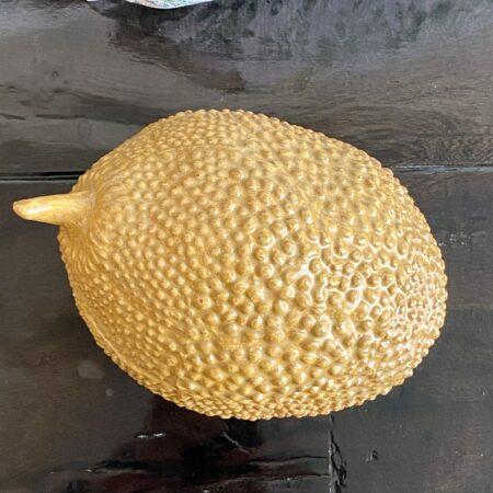 Deko-Box IMENDA, Keramikdose in Form einer Avocado in ockergelb