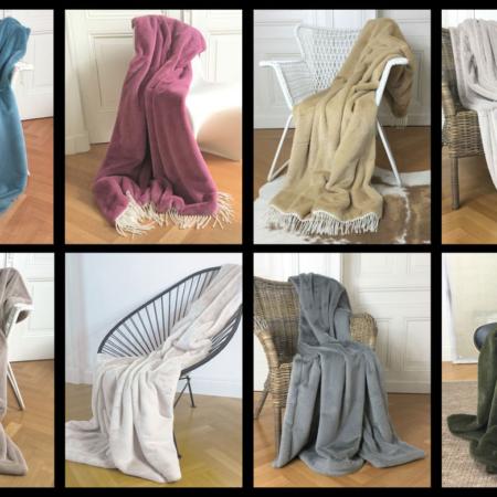 Plaids Kollektion TENDER, exklusive leichte, zarte Decken & Plaids von Carma