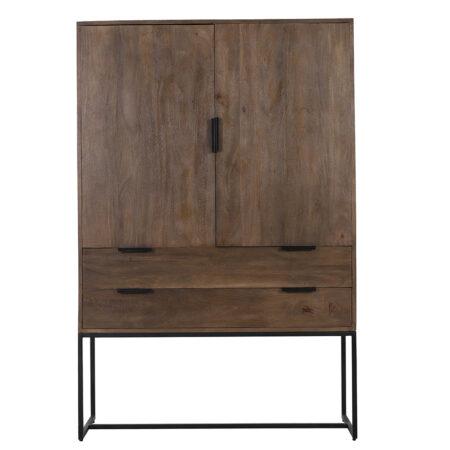 Schrank MEAVE Holz dunkel braun